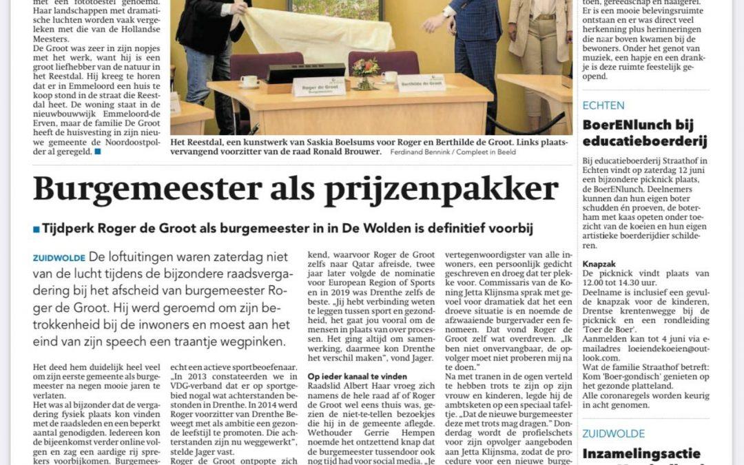 Afscheid Roger de Groot, burgemeester van de Wolden